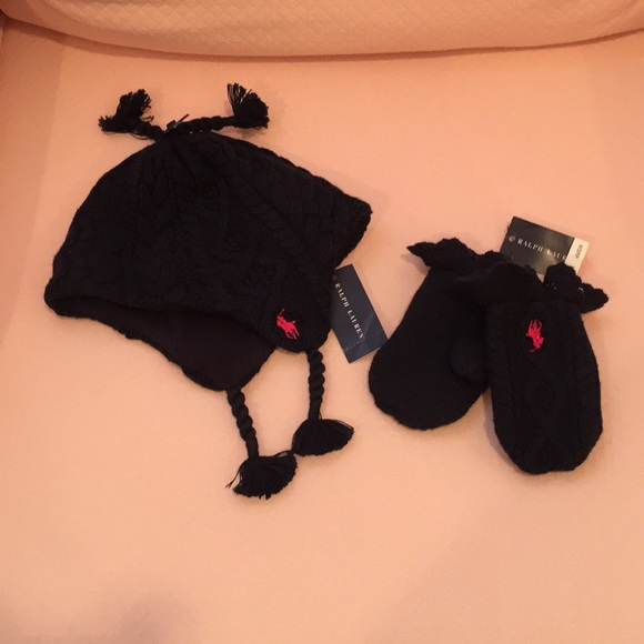 Kids Ralph Lauren hat and mittens 7a641d67415
